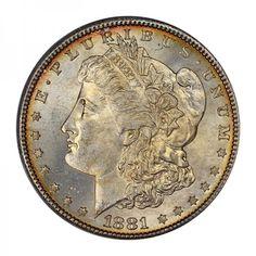 1881-S Morgan Dollar PCGS MS68 CAC #LSRC #PCGS #CAC #MORGAN #DOLLAR
