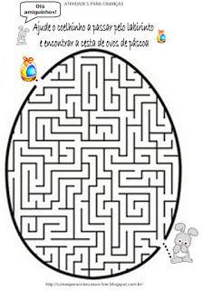 Atividades para Crianças: Labirinto de Pascoa