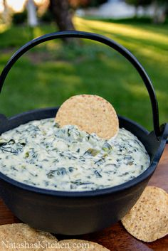 Spinach, Parmesan and Artichoke Dip.  Can't wait to try this one!