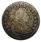 1805 Draped 4 Berries Bust Dime 10¢ Rare Coin Lot# MZ 1347