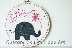 Custom Designed Name Hoop Art to Coordinate with Your Decor - Any Size, Any Design or Theme - Personalized