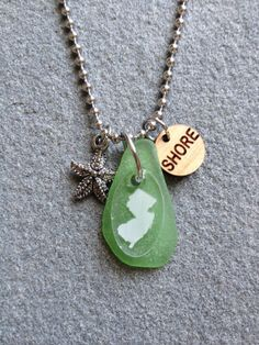 New Jersey SHORE Natural Sea Glass Necklace with by CABANA109, $45.00