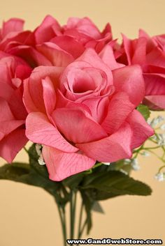 """15.5"""" VEIN ROSES available in many colors, only $2.49 - GandGwebStore.com Stained Glass Lamps, Hobby Ideas, Cute Bunny, Timberland, Projects To Try, Roses, Easter, Spring, Flowers"""