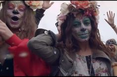 Pretty Sugar Skull Girls  From the music video, Prayer In C - Robin Schulz & Lilly Wood & The Prick