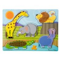 Zoo Animals Touch & Feel Puzzle