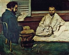 Paul Alexis lisant à Emile Zola, 1869-70, Cézanne, (Musée Arte Sao Paulo)
