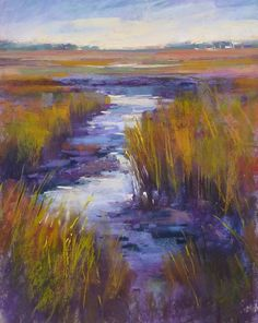 'Into the Marsh'                11x14    pastel          ©Karen Margulis Painting available here $165   My goal is to keep it simple. I lo...
