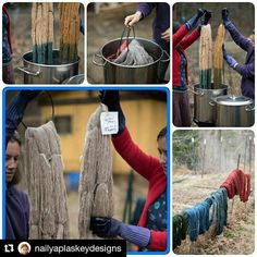 """Natural dyeing... #Repost @nailyaplaskeydesigns with @repostapp  And today on #YarnLoveMonth2017 we have amazing natural dyers Nikki and Maria of @fernfiber . Here's your chance to learn more about the fascinating art of natural dyeing. (Each question you ask is an entry to this fab yarn giveaway. Additional entry if you visit their website and comment below with your favorite colorway of theirs. Remember to check every feature in the series). """"At Fern Fiber we believe in small farms and…"""