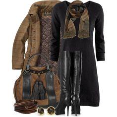 """Sweater Dress #3"" by tammylo-12 on Polyvore"