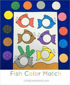 fish color match file folder game for preschool and kindergarten File Folder Activities, File Folder Games, Toddler Activities, Preschool Activities, File Folders, Rainbow Fish Activities, Toddler Games, Preschool Printables, Toddler Learning