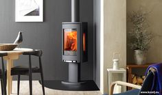 Jotul F 373 C - Gas version(gf 373) downstairs. Wood version upstairs, set to rotate 90 degrees.