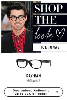 Eyewear at is A Club Membership Site Ray Ban Men, Joe Jonas, Get The Look, Eyewear, Ray Bans, Mens Sunglasses, Eyeglasses, Black, Big