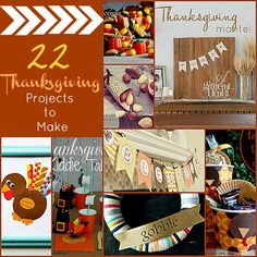 22 Thanksgiving Projects to Make!! -- Tatertots and Jello #DIY #Thanksgiving
