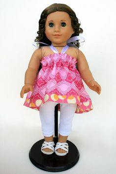 American Girl Doll Clothes  Candy Pink Halter Top by dollcloset, $16.00