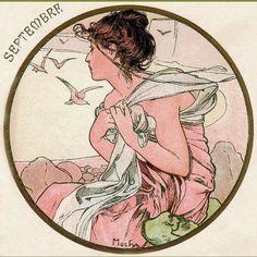 Lady of the Fall... Alphonse Mucha