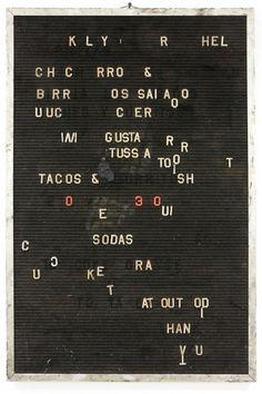 menu rabble, clip on letters