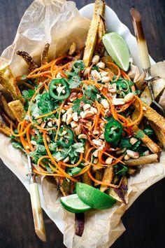 Loaded Bánh mì Sweet Potato Fries | Earthy Feast | Pinned to Nutrition Stripped | Sides + Appetizers