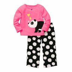 Carter's L/S Embroidery Set - Panda Spots- 6 Baby Girl Pajamas, Girls Pajamas, Toddler Girl Outfits, Toddler Girls, Kids Outfits, Cute Designs, Pajama Set, Lounge Wear, Girl Fashion