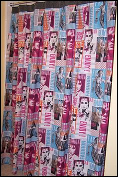 The double wide French model fabric makes a wonderful shower curtain!