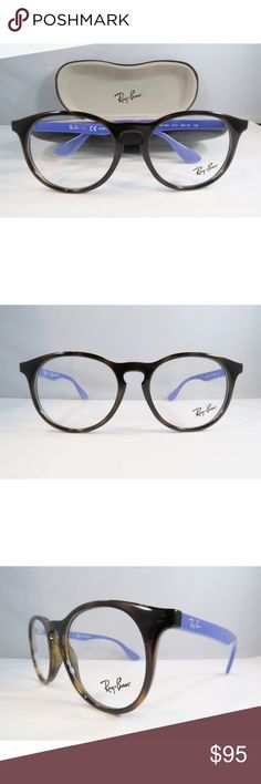 1c9a2e372783 Ray-Ban Eyeglasses Tortoise and Blue Frame 1554 New with clear lens Comes  with Ray