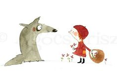 Little Red Riding Hood, Illustration by Irisz Agocs