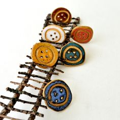Unique handmade ceramic BUTTONS  You Choose 3 colors by GlazedOver, $12.00