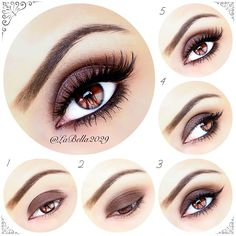 """Pictorial for a sultry brown smokey eye ✨  All products used are by @motivescosmetics ~ Prime your eyelids  1 - Apply """"Hazelnut"""" all over the lid  2 -  Apply """"Antique Gold"""" on to the crease - Blend using """"Antique Pink"""" & """"Antique Gold""""  3 - Apply """"Creme Fresh"""" on to the brow bone and add a thin winged eyeliner 4 - Apply mascara, black eyeliner pencil and """"Hazelnut"""" eyeshadow on to the lower lash line  5 - Add """"Noir Fairy"""" in brown by @House of Lashes to complete the look! - @labella2029…"""