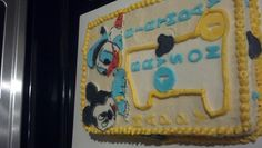 Baby Donald and Baby Mickey 1st Birthday Cake