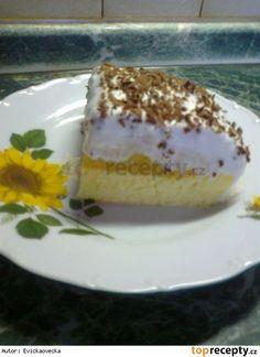 Jablečné řezy se šlehačkou Czech Recipes, Ethnic Recipes, Tiramisu, Sweet Tooth, Cheesecake, Pudding, Czech Food, Cheesecakes, Custard Pudding
