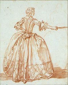 The Athenaeum - Study of Nicole in Molière's 'Le Bourgeois Gentilhomme' (François Boucher - )