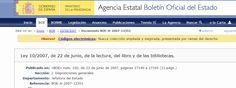 Ley 10/2007, de 22 de junio, de la lectura, del libro y de las bibliotecas.