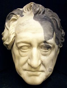 Goethe, Johann Wolfgang von, life mask, found in the ruins of Frankfort-am-Main after WWII. Laurence Hutton Collection of Life and Death Masks Robert E Lee, Dante Gabriel Rossetti, William Wordsworth, Dante Alighieri, Walt Whitman, John Keats, Benjamin Franklin, Morgue Photos, Thirty Years' War
