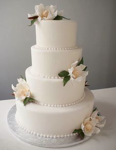 Floral Wedding Cakes - Hand-crafted with love, these super creative wedding cakes with eye-popping floral details will be the most-photographed item at your wedding. Start scrolling and get inspired! Wedding Cake Pearls, Floral Wedding Cakes, White Wedding Cakes, Wedding Cakes With Flowers, White Cakes, 2 Tier Wedding Cakes, Flower Cakes, Floral Cake, Purple Wedding
