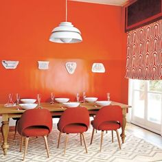 tangerine wall  via homes&gardens photo credit: Tom Leighton
