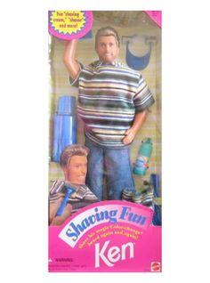 "Barbie Shaving Fun KEN Doll w ""Magic"" Color Change Beard & Accessories Barbie 90s, Barbie World, Barbie And Ken, Barbie Stuff, Childhood Toys, Childhood Memories, Ken Doll, Barbie Collection, Kids Corner"