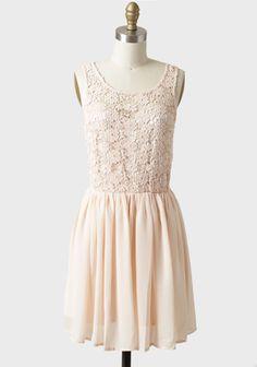 Parades End Crochet Detail Dress In Peach