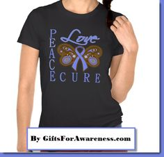 Stomach Cancer awareness ribbon shirts, apparel and gifts by www.giftsforawareness.com