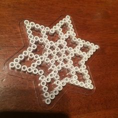 Christmas star ornament hama beads by  iannel82