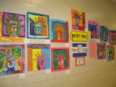 Statue of Liberty Portraits inspired by Peter Max, a Contemporary Pop Artist