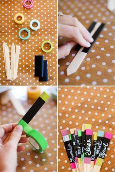 how to DIY plant markers Dekorella Shop http://dekorellashop.hu/ #dekortapasz #washitape #maskingtape