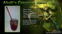 """Akali's Crescent Slash: """"I suggest you run. I want to savor this. Highball Glass, Mineral Water, Refreshing Drinks, Vodka, Cocktails, Make It Yourself, Legends, Beverages, Cocktail"""