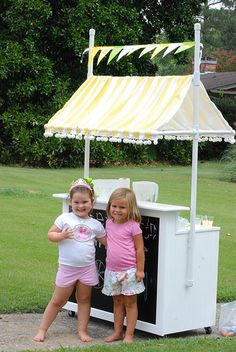 so cute! lemonade stand  fond a way to replicate the two teirs?