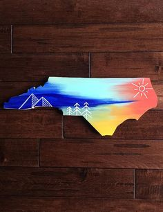 Mountains Pines & Sea North Carolina Painted by WhimsicalOrigins