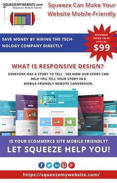 With responsive website, you reach out to the mobile users. Don't you want more customer?