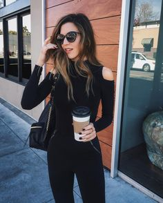 Black on black outfit inspo