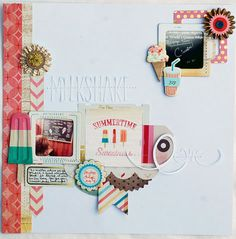 Crate Paper summer layout - milkshake
