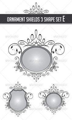 Ornament Shields 3 Shape Set E