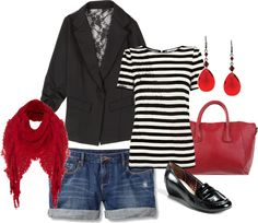 """""""Blazer With Shorts"""" by cbcallie on Polyvore"""