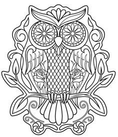 Sugar Skull Owl Coloring Page From Skulls Category Select 21312 Printable Crafts Of