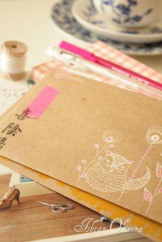 Envelope art - need to get me some brown envelopes